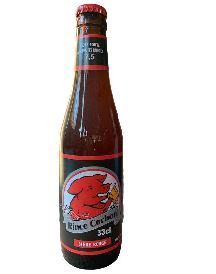 Bière rouge Rince Cochon- Pub paris La tête à l'envers