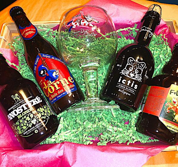 cadeau noel panier bières